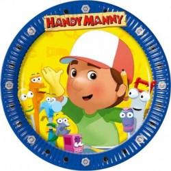 10 Piatti Tondi Carta Handy Manny 20 cm