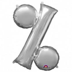 Pallone Simbolo % Argento 90 cm