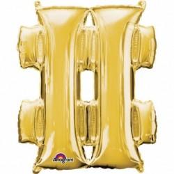 Pallone Simbolo # Oro 90 cm