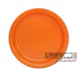 20 Piatti Tondi Carta Arancio 18 cm