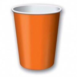 8 Bicchieri Carta Arancio 266 ml