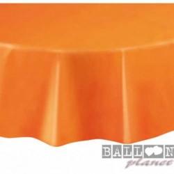 Tovaglia Plastica Tonda Arancio 205 cm