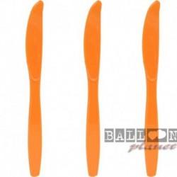 10 Coltelli Plastica Arancio 16 cm