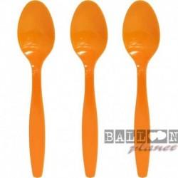 24 Cucchiai Plastica Arancio 18 cm