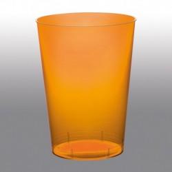 10 Bicchieri Plastica Arancio 230 ml
