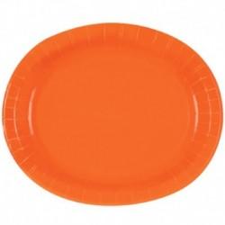 8 Vassoi Carta Arancio 30x25 cm