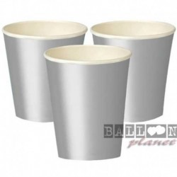 14 Bicchieri Carta Argento 266 ml
