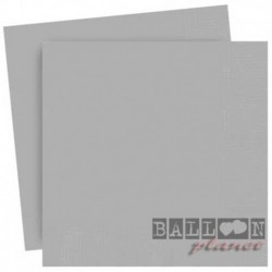 20 Tovaglioli Carta Argento 33x33 cm