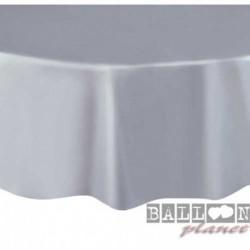 Tovaglia Plastica Tonda Argento 205 cm
