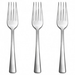 10 Forchette Plastica Argento Metal