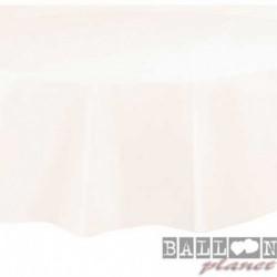 Tovaglia Plastica Tonda Avorio 205 cm