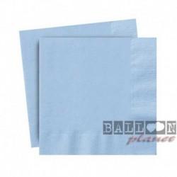 20 Tovaglioli Carta Azzurri 25x25 cm