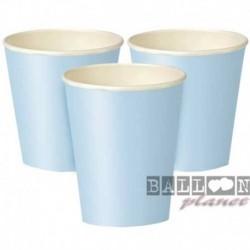 8 Bicchieri Carta Azzurri 266 ml