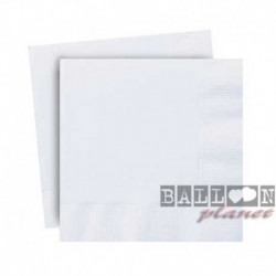 20 Tovaglioli Carta Bianchi 25x25 cm
