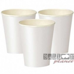 8 Bicchieri Carta Bianchi 266 ml