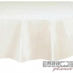 Tovaglia Plastica Tonda Bianca 205 cm