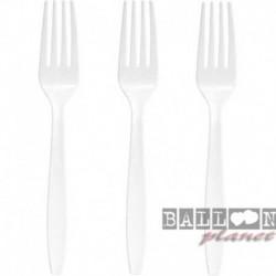 24 Forchette Plastica Bianche 18 cm