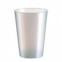 10 Bicchieri Plastica Bianchi 230 ml