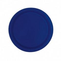 20 Piatti Tondi Carta Blu Navy 18 cm