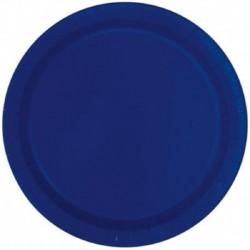 16 Piatti Tondi Grandi Blu Navy 23 cm