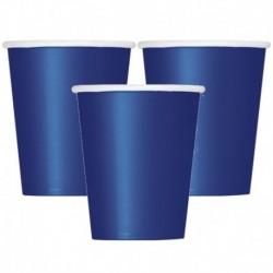 14 Bicchieri Carta Blu Navy 266 ml