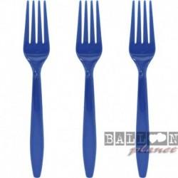 10 Forchette Plastica Blu Navy 16 cm