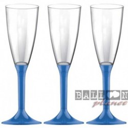 6 Flütes Plastica Blu Navy 120 ml