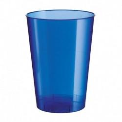 10 Bicchieri Plastica Blu Navy 230 ml