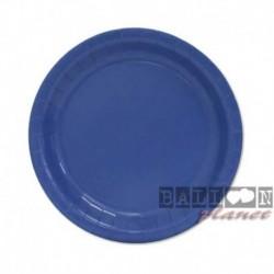 20 Piatti Tondi Carta Blu Royal 18 cm