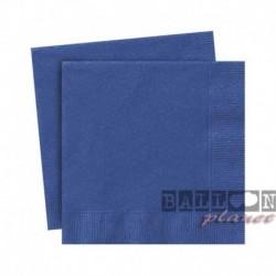20 Tovaglioli Carta Blu Royal 25x25 cm