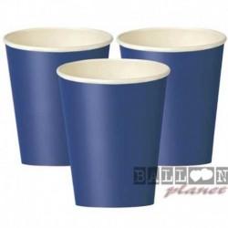 8 Bicchieri Carta Blu Royal 266 ml