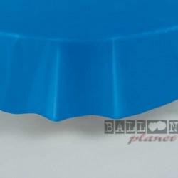 Tovaglia Plastica Tonda Blu Royal 205 cm