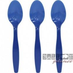 24 Cucchiai Plastica Blu Royal 18 cm