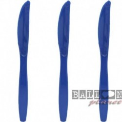 24 Coltelli Plastica Blu Royal 18 cm