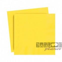 20 Tovaglioli Carta Gialli 25x25 cm
