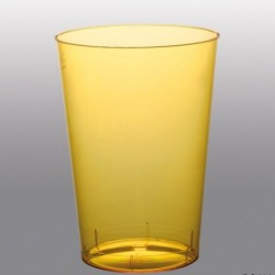 10 Bicchieri Plastica Gialli 230 ml