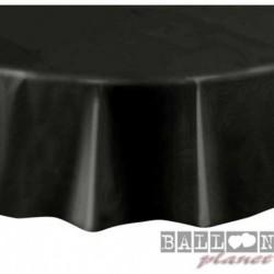 Tovaglia Plastica Tonda Nera 205 cm