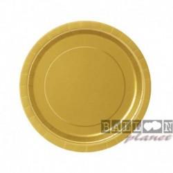 20 Piatti Tondi Carta Oro 18 cm