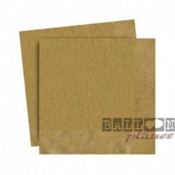 20 Tovaglioli Carta Oro 25x25 cm