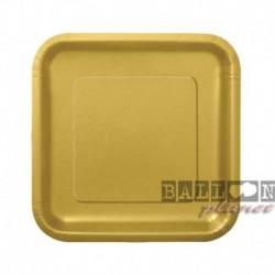 16 Piatti Quadrati Carta oro 18 cm