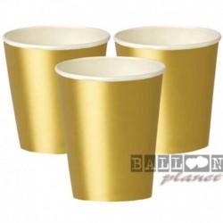 8 Bicchieri Carta Oro 266 ml