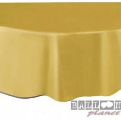 Tovaglia Plastica Tonda Oro 205 cm