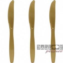 10 Coltelli Plastica Oro 16 cm