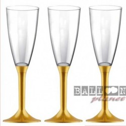 6 Flütes Plastica Oro 120 ml