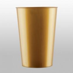 10 Bicchieri Plastica Oro 230 ml