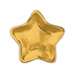 10 Piatti Carta Stella Oro 24 cm