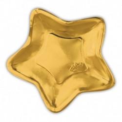 10 Piatti Carta Stella Oro 32 cm