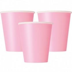10 Bicchieri Carta Rosa 266 ml