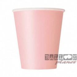 8 Bicchieri Carta Rosa 266 ml