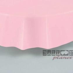 Tovaglia Plastica Tonda Rosa 205 cm